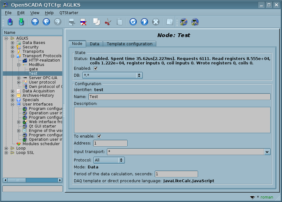 Modules/ModBus - OpenSCADAWiki